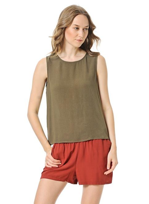 Vero Moda Sırt Dekolteli Bluz Yeşil